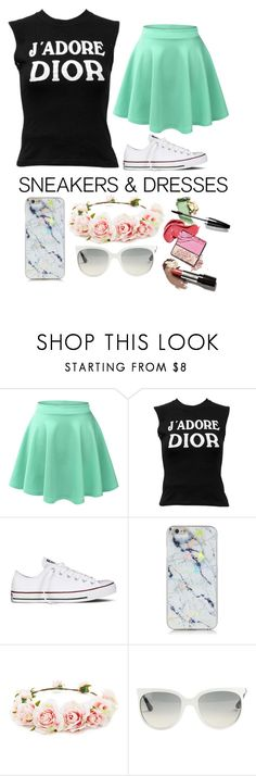 """""""Your true lady"""" by the-crazy-dog-lover ❤ liked on Polyvore featuring LE3NO, Christian Dior, Converse, Forever 21 and Ray-Ban"""