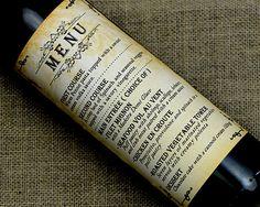 Custom Wedding Wine Label Personalized wine Label by haomaihanger, $3.00