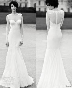 Berta Bridal 2013 Collection- sweetheart neckline and illusion long sleeves
