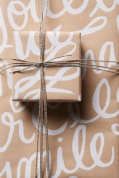 Pretty cursive wrapping paper