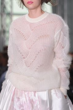 Knitting Patterns Sweaters Oversized Sweater/Hand Knit Sweater/Clothing for women/Mohair sweater/White sweater/MohairWomens pul London Fashion Weeks, Knitwear Fashion, Knit Fashion, High Fashion, Womens Fashion, Sweater Fashion, Antonio Berardi, Moda Crochet, Knit Crochet