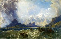 Montagnes du Caucase de Carlo Bossoli (1815-1884, Switzerland)