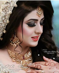 Makeup Artist in Delhi: Top 20 Trendy Indian Bridal Makeup Images Beautiful Bridal Makeup, Bridal Makeup Looks, Indian Bridal Makeup, Bridal Hair And Makeup, Bridal Beauty, Bridal Makup, Bridal Mehndi Dresses, Bridal Dress Design, Pakistani Bridal Makeup Hairstyles