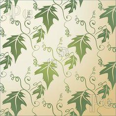 Illustration of Leaf Pattern Background