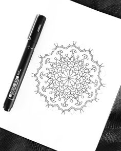A little drawing before bed 🖤 Before Bed, Bedding, Mandala, My Arts, Tattoos, Drawings, Instagram, Design, Tatuajes