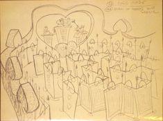 Vintage Disney Alice in Wonderland: Bruce Bushman Concept Brownline - Alice in Wonderland Walkthrough #13