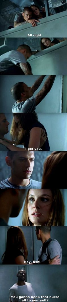 Prison Break S01E07 Michael & Sara.
