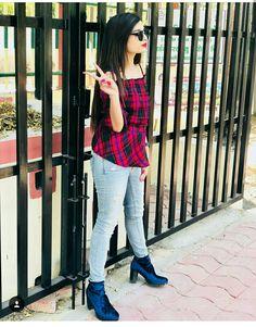 Swag Girl Style, Girl Swag, Dresses Kids Girl, Shraddha Kapoor, Girls Dpz, Girls Image, Kids Girls, Girl Fashion, Plaid