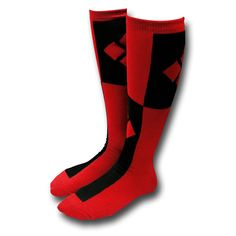 Harley Quinn Knee High Socks