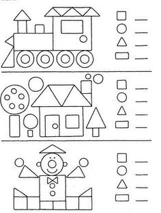 Preschool Shapes Worksheets for January. Kindergarten Worksheets, Worksheets For Kids, Learning Activities, Preschool Activities, Kids Learning, Preschool Shapes, Teaching Shapes, Shapes Worksheets, 1st Grade Math