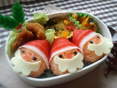 うっかりこっこのOBENTO倶楽部:おさなご2012年11月号「サンタ×3弁当」