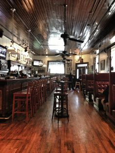 Crystal Beer Parlor in Savannah, Georgia - one of the city's oldest restaurants and the second most popular... but worth the wait!!!!!