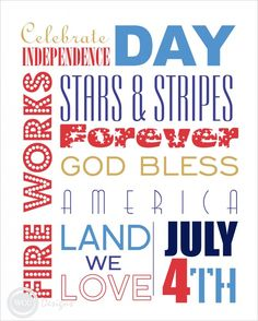 """Subway Art and """"I {Heart} my State"""" Art Prints for your 4th of July"""