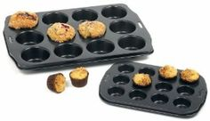 "Norpro Nonstick 12- Hole Mini Muffin Pan by Norpro. $8.99. Makes 12 mini muffins or cupcakes. High quality nonstick surface for easy release and cleaning.. Mini Muffin size, top 1.75 inches/4.5cm, bottom 1.25 inches/3cm and depth .6/1.5cm. Hand washing recommended. Makes 12, 1.75"" mini muffins.  Also use for making cupcakes or hors d'oeuvres."