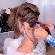 Updo Hairstyles Tutorials, Braided Ponytail Hairstyles, Wedding Hairstyles For Long Hair, Gorgeous Hairstyles, Flower Hairstyles, Simple Hairstyles, Hair Up Styles, Long Hair Wedding Styles, Hair Curling Tutorial