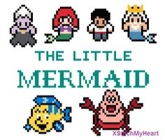 The Little Mermaid Cross Stitch Pattern PDF by XStitchMyHeart, £2.75