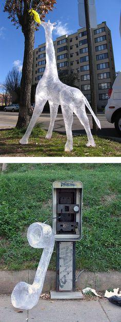 Plastic film sculptures
