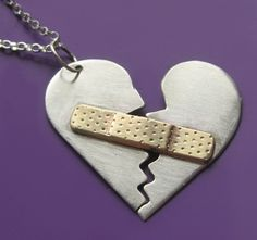 How sweet... for all those - young or old that have had a broken heart. Mended Heart Necklace by sudlow on Etsy, $50.00