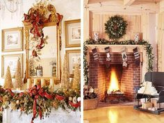 easy+christmas+decorations+ideas | Easy Christmas Decorating Ideas: Easy Christmas Fireplace Decorating ...