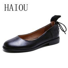 Cheap 2017 Mujeres Negro resbalón de Los Zapatos de Mujer de Cuero Genuino Plana Zapatos de Cuero Hechos A Mano Moda Mocasines Femeninos Zapatos Casual Mujeres Pisos, Compro Calidad Pisos de las mujeres directamente de los surtidores de China: 2017 Mujeres Negro resbalón de Los Zapatos de Mujer de Cuero Genuino Plana Zapatos de Cuero Hechos A Mano Moda Mocasines Femeninos Zapatos Casual Mujeres Pisos