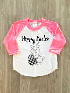 Hoppy Easter Raglan Tee  Easter shirt  baby by 8thWonderOutfitters