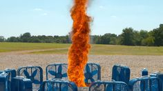 Watching this in slow motion is just incredible.  Fire Tornado in Slow Motion 4K - The Slow Mo Guys