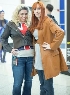 Doctor Who cosplay, I didn't even realize it was cosplay at first. Donna and Rose Tyler, their faces are perfect!