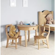 Emily Solid Oak Childrens Play Table-34