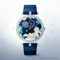 Poetic Astronomy by Van Cleef & Arpels. Lady Arpels Zodiac Scorpio timepiece from 'Extraordinary Dials' collection.