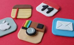 Phone Apps Fondant Toppers... Picture.