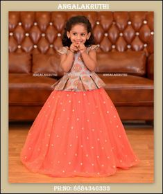 Security Check Required - The world's most private search engine Kids Party Wear Dresses, Kids Dress Wear, Baby Girl Party Dresses, Kids Gown, Dresses Kids Girl, Kids Wear, Girls Frock Design, Kids Frocks Design, Baby Frocks Designs