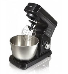 Mixing pancakes and fixing up some mashed potatoes has never been easier than it is with this handy Hamilton Beach stand mixer. The mixer features six speed settings and comes with a bowl. The beater has an excellent non-stick surface. Stand Mixer Reviews, Best Stand Mixer, Small Kitchen Appliances, Kitchen Aid Mixer, Kitchen Tools, Kitchen Shop, Test Kitchen, Kitchen Gadgets, Kitchen Dining