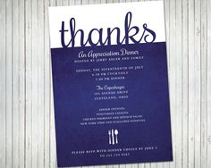 Appreciation Dinner OR Lunch Party Invitation