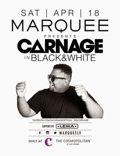 Anew Productions: Tickets Carnage at Marquee Nightclub APR. 18  @ MA...