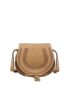 Marcie Small Satchel Bag, Tan  by Chloe at Neiman Marcus.