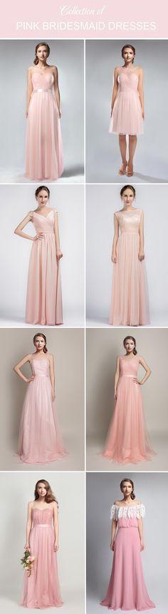 pink bridesmaid dresses collection 2016 via @tullechantilly
