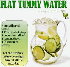 If You Drink This Before Going To Bed You Will Burn Belly Fat Like Crazy beauty diy diy ideas health healthy living remedies remedy life hacks fat loss healthy lifestyle beauty tips detox juicing good to know viral Detox Drinks Flat Tummy Water, Flat Tummy Diet, Weight Loss Drinks, Weight Loss Cleanse, Drinks To Lose Weight, Weight Loss Meals, Healthy Weight Loss, Healthy Drinks, Healthy Water