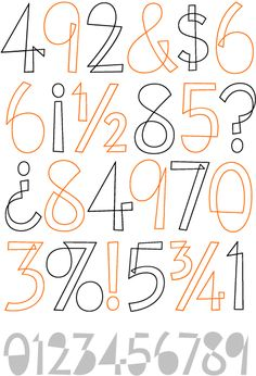 Eames Cover Numerals: Lovely.