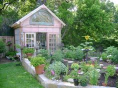 This Gal has a great group of photos n Ideas!  garden greenhouses (9)