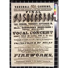 masquerade flyer at Vauxhall Gardens