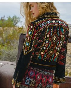 As pretty on the wall as it is on the bod, High Mountain Biker Jacket -(via Double D Ranchwear)