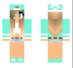 Blue tomboy minecraft skin