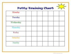 potty training chart for addy