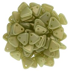 371-06-P29250 CzechMates Triangle 6mm : Halo Ethereal - Celadon