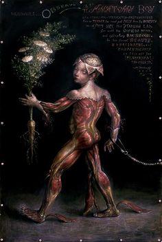 "Artist Thomas Woodruff's series Freak Parade. ""Anatomy Boy""."