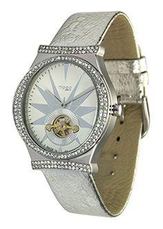 Moog Paris--Damen-Armbanduhr Zifferblatt weiß Armband Silber Leder Rindleder, hergestellt in Frankreich-m45242-001 - http://uhr.haus/moog-paris/moog-paris-damen-armbanduhr-zifferblatt-weiss-in-4
