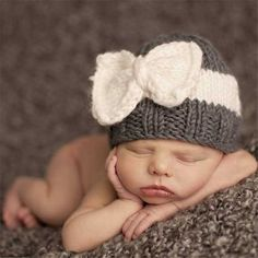 Cute Newborn Baby Knitting Hat Bow Knot Cap Infant Girl Winter Warm Beanie #>=#>=#>=#>=#> Click on the pin to check out discount price, color, size, shipping, etc. Save and like it!