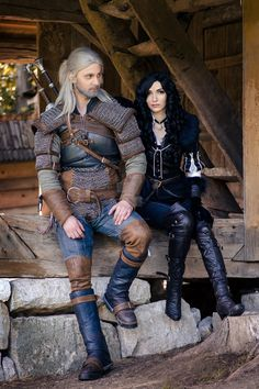 Geralt and Yennefer by DarkDrawer513.deviantart.com on @DeviantArt
