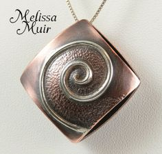 by Melissa Muir - Kelsi's Closet Jewelbox Design Journal Mixed Metal Jewelry, Metal Clay Jewelry, Copper Jewelry, Polymer Clay Jewelry, Wire Jewelry, Jewelry Crafts, Terracotta Jewellery Making, Soldering Jewelry, Precious Metal Clay