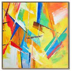 Large Palette Knife Painting On Canvas Abstract par CelineZiangArt